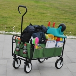 [US Warehouse] Foldable Outdoor Multifunctional Shopping Cart(Green)