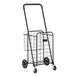 [US Warehouse] Iron Telescopic Armrest  Foldable Shopping Cart, Size: 55x59x110-120cm
