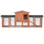 [US Warehouse] Rabbit Hutch Wood House Pet Cage Chicken Coop, Size: 83.8×20.8×33.2 inch