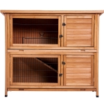 [US Warehouse] Chicken Coop Rabbit Hutch Wood House Pet Cage, Size: 48×19.7×41 inch