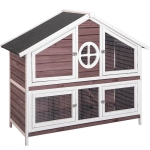 [US Warehouse] Rabbit Hutch Wood House Pet Cage, Size: 56.5×22.6×43.3 inch