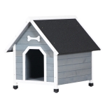 [US Warehouse] Dog House Pet Outdoor Bed Wood Shelter Home Weather Kennel Waterproof,Size: 78x84x83.5cm