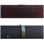 US Version Keyboard with Backlight for MSI GT62 GT72 GE62 GE72 GS60 GS70 GL62 GL72 GP62 GT72S GP72 GL63 GL73 (Red)