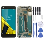 LCD Screen and Digitizer Full Assembly with Frame for Vodafone Smart Ultra 6 VF-995N VF995N (Black)