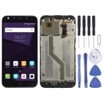 LCD Screen and Digitizer Full Assembly with Frame for ZTE Blade A6 / A6 Lite A0622 A0620 (Black)