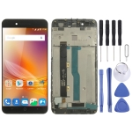 LCD Screen and Digitizer Full Assembly with Frame for ZTE Blade A610 / A610C / A612 (Black)