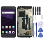 LCD Screen and Digitizer Full Assembly with Frame for ZTE Blade V8 Mini BV0850 (Black)