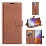 For Xiaomi Mi 11 Pro 4G / 5G Retro Calf Pattern Buckle Horizontal Flip Leather Case with Holder & Card Slots & Wallet(Light Brown)