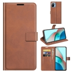 For Xiaomi Mi 11 Lite 4G / 5G Retro Calf Pattern Buckle Horizontal Flip Leather Case with Holder & Card Slots & Wallet(Light Brown)
