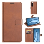 For Xiaomi Mi 10S Retro Calf Pattern Buckle Horizontal Flip Leather Case with Holder & Card Slots & Wallet(Light Brown)
