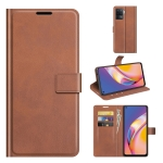 For OPPO A94 4G / F19 Pro Retro Calf Pattern Buckle Horizontal Flip Leather Case with Holder & Card Slots & Wallet(Light Brown)