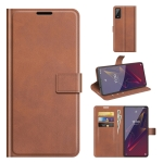 For Wiko Power U20 Retro Calf Pattern Buckle Horizontal Flip Leather Case with Holder & Card Slots & Wallet(Light Brown)