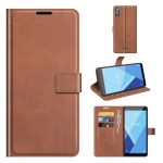For Wiko Y51 / Sunny 5 lite Retro Calf Pattern Buckle Horizontal Flip Leather Case with Holder & Card Slots & Wallet(Light Brown)