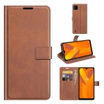 For Wiko Y62 Retro Calf Pattern Buckle Horizontal Flip Leather Case with Holder & Card Slots & Wallet(Light Brown)