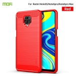 For Xiaomi Redmi Note 9s / Note 9 Pro / Note 9 Pro Max / Foco M2 Pro MOFI Gentleness Series Brushed Texture Carbon Fiber Soft TPU Case(Red)