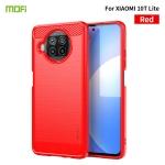 For Xiaomi Mi 10T Lite /Mi 10i 5G / Note 9 Pro 5G MOFI Gentleness Series Brushed Texture Carbon Fiber Soft TPU Case(Red)