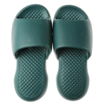 Summer Super Thick Soft Bottom Plastic Slippers Men Indoor Defensive Household Bath Slippers, Size:44-45(Dark Green)