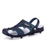 Summer Men Slippers Beaches Waterproof Upstream Breathable Sandals, Size: 43(Dark Blue)