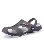 Summer Men Slippers Beaches Waterproof Upstream Breathable Sandals, Size: 45(Gray)