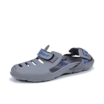 Men Beach Sandals Summer Sport Casual Shoes Slippers, Size: 43(Gray)