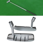 2 PCS Children Sngle-Sided Golf Putter Head Zinc Alloy Practice Putter Head(Silver)