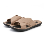 Men Summer Slippers Soft-Soled Sandals Indoor and Outdoor Beach Casual Antiskid Slippers, Size: 39(Khaki)
