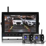 7 Inch Digital Wireless Reversing Image 1080P Video System Truck Monitoring Driving Recorder 2 Division+2 Night Video Camera
