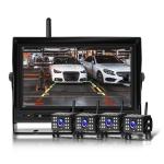 7 Inch Digital Wireless Reversing Image 1080P Video System Truck Monitoring Driving Recorder 4 Division+4 Night Video Camera