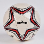 MILACHIC Big Five-pointed Star Pattern Explosion-Proof PU Leather Competition Training Football, Football size: Number 4 ( For 5-7 People)