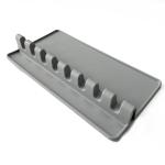 2 PCS Silicone Spoon Holder Kitchen Utensils Anti-Fouling Mat Drain Rack 8 Slot(Gray)