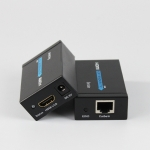 HDY-60 HDMI to RJ45 60m Extender Single Network Cable to For HDMI Signal Amplifier(US Plug)