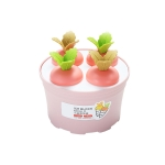 2 PCS Summer Carrot Potted Ice Cream Mold Homemade Ice Tray Round Four(Pink)