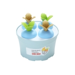 2 PCS Summer Carrot Ice Potted Cream Mold Homemade Ice Tray Round(Blue)