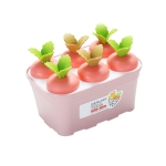 2 PCS Summer Carrot Potted Ice Cream Mold Homemade Ice Tray Rectangle(Pink)