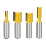 4 PCS/Set Woodworking Engraving Double-Edged Straight Knife Trimming Machine 1/2 Milling Cutter Head