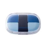 JORDAN&JUDY Portable Pill Box Storage Mini Pill Sealed Box(Blue (5 Grid))