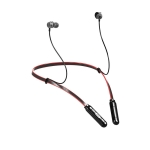Q9S Hanging Neck Subwoofer In-Ear Wireless Bluetooth Sports Earphone(Black Red)