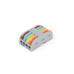 10 PCS SPL-4 4 In 4 Out Colorful Quick Line Terminal Multi-Function Dismantling Wire Connection Terminal