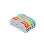 10 PCS SPL-5 5 In 5 Out Colorful Quick Line Terminal Multi-Function Dismantling Wire Connection Terminal