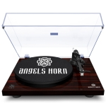 [US Warehouse] Wooden Retro Record Player with Built-in Phono Preamp And Belt Drive