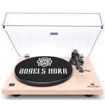 [US Warehouse] Wooden Record Player Turntable with Built-in Phono Preamp And Belt Drive