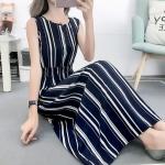 Fashion Printed Slim Slimming Dress (Color:3 Size:L)