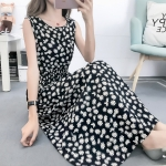 Fashion Printed Slim Slimming Dress (Color:4 Size:L)