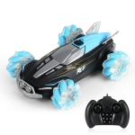 YDJ-D888 4WD 2.4G Remote Control Spray 360 Degree Flip Stunt Drift Car(Blue)