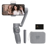 ZHIYUN Smooth Q3 Combo Kit 3-Axis Handheld Gimbal Stabilizer Selfie Stick with Tripod & Carry Case for Smart Phone, Load: 280g (Grey)