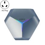 A95X F4 8K UHD Smart TV BOX Android 10.0 Media Player wtih Remote Control, Amlogic S905X4 Quad Core Cortex-A55 up to 2.0GHz, RAM: 4GB, ROM: 128GB, 2.4GHz/5GHz WiFi, Bluetooth, AU Plug(Metallic Blue)