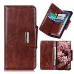 For OPPO Realme V13 5G / Realme 8 5G Crazy Horse Texture Magnetic Buckle Horizontal Flip Leather Case with Holder & 6-Card Slots & Wallet(Brown)