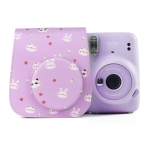 Painted Series Camera Bag with Shoulder Strap for Fujifilm Instax mini 11(Fruit Animal)