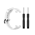 For Amazfit T-Rex Pro / Amazfit T-Rex Silicone Replacement Strap Watchband with Dismantling Tools, One Size(White)