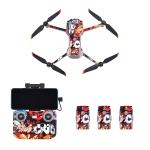 STARTRC Drone + Remote Control + Battery Protective PVC Sticker for DJI Air 2S(Animated Graffiti)